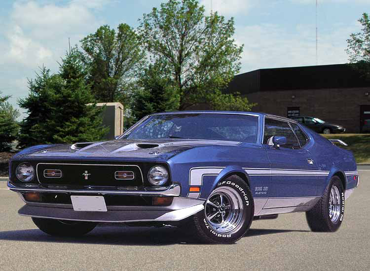 1971 FORD MUSTANG BOSS 351 FASTBACK - Front 3/4 - 44307