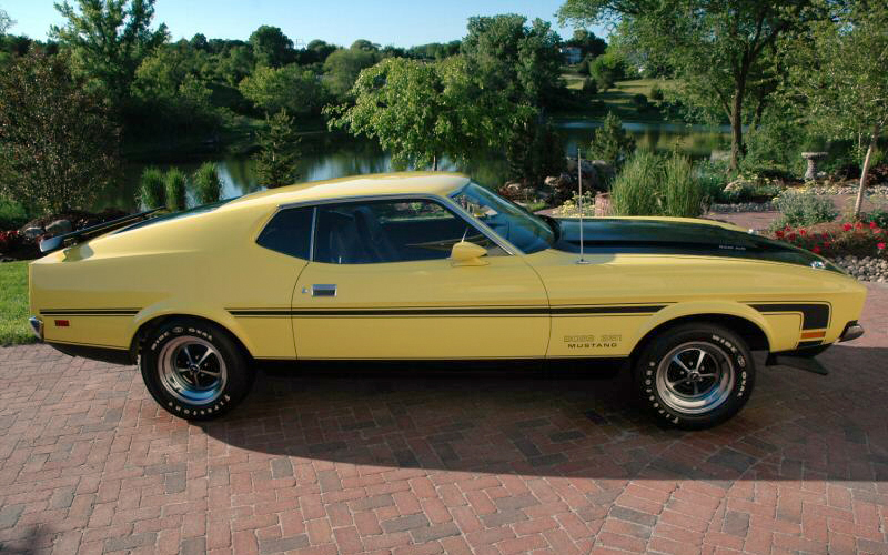 1971 FORD MUSTANG BOSS 351 FASTBACK - Side Profile - 44308