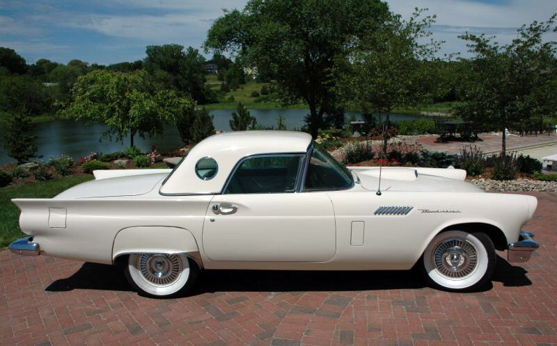 1957 FORD THUNDERBIRD CONVERTIBLE - Side Profile - 44309