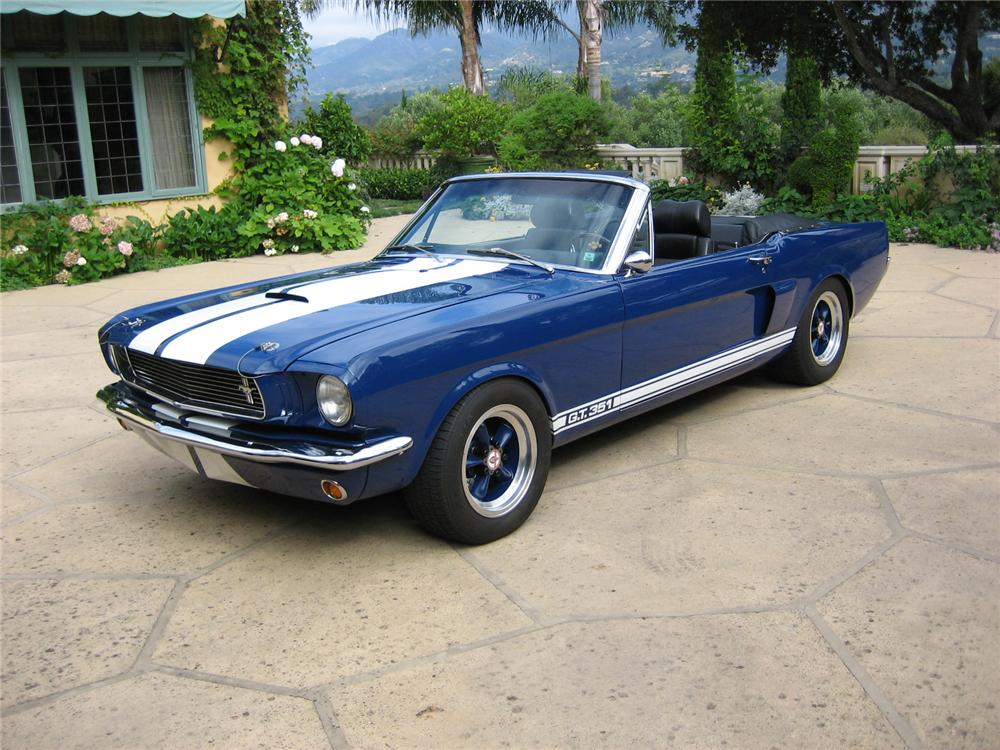 1966 FORD MUSTANG CUSTOM CONVERTIBLE - Front 3/4 - 44312