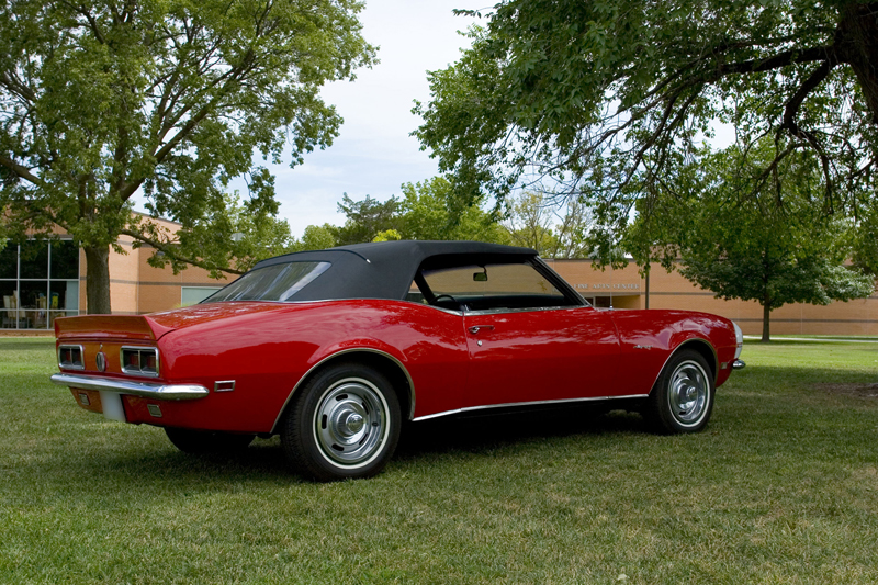 1968 CHEVROLET CAMARO RS CONVERTIBLE - Rear 3/4 - 44361