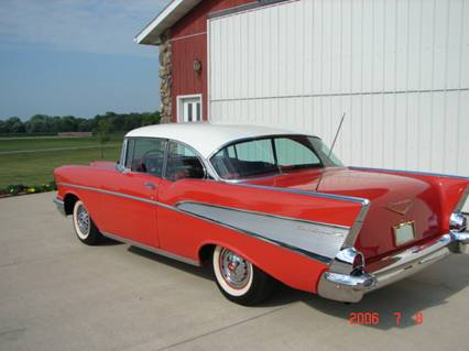 1957 CHEVROLET BEL AIR COUPE - Rear 3/4 - 44373