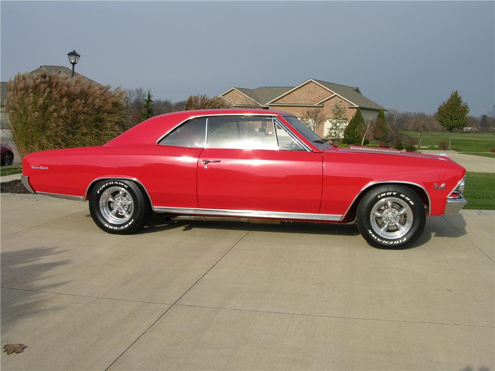 1966 CHEVROLET CHEVELLE SS CUSTOM 2 DOOR HARDTOP - Side Profile - 44377