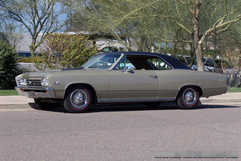 1967 CHEVROLET CHEVELLE SS 396 2 DOOR HARDTOP - Side Profile - 44386