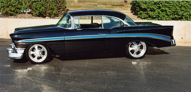 1956 CHEVROLET BEL AIR CUSTOM COUPE - Side Profile - 44404