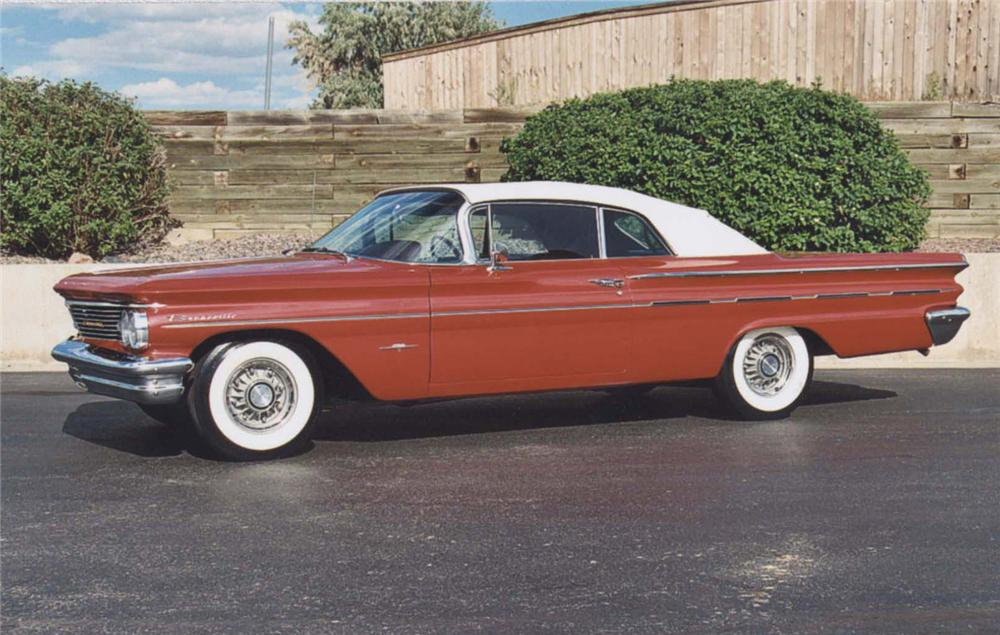 1960 PONTIAC BONNEVILLE CONVERTIBLE - Side Profile - 44410