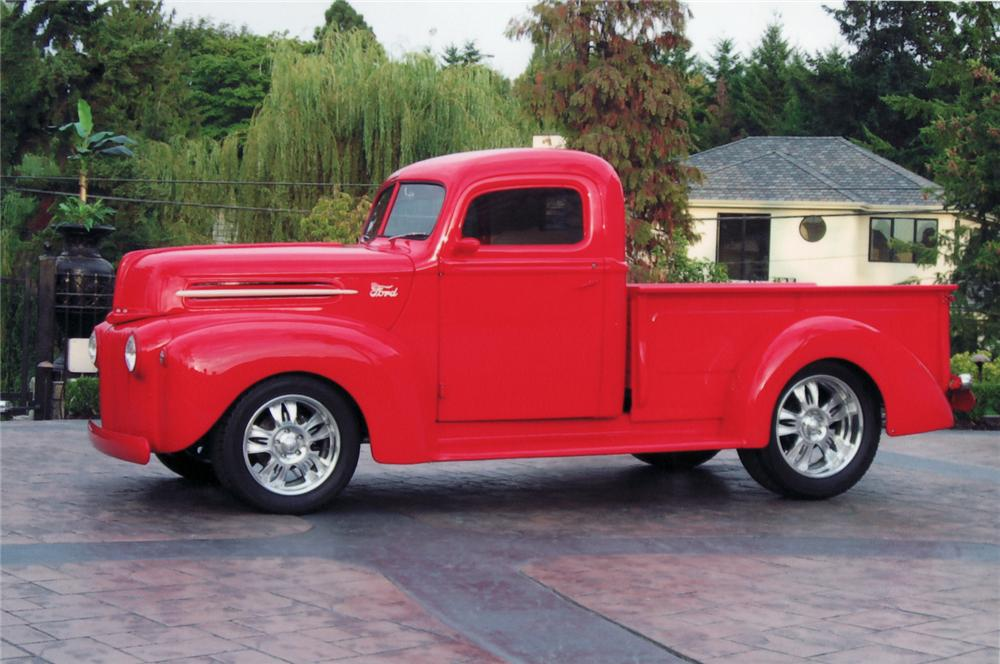 1946 FORD CUSTOM PICKUP - Side Profile - 44432
