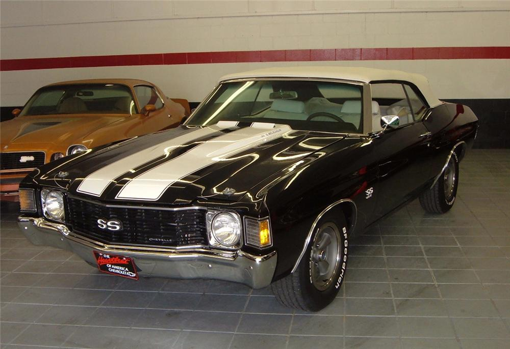 1972 CHEVROLET CHEVELLE 2 DOOR CONVERTIBLE - Front 3/4 - 44438