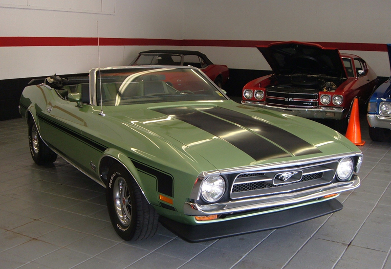 1971 FORD MUSTANG CUSTOM CONVERTIBLE - Front 3/4 - 44439