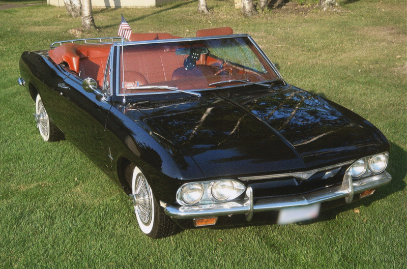 1968 CHEVROLET CORVAIR CONVERTIBLE - Front 3/4 - 44444