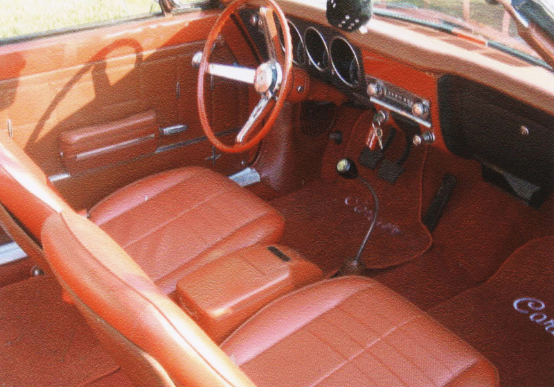 1968 CHEVROLET CORVAIR CONVERTIBLE - Interior - 44444