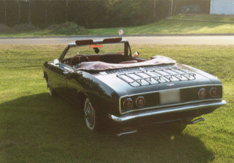 1968 CHEVROLET CORVAIR CONVERTIBLE - Rear 3/4 - 44444