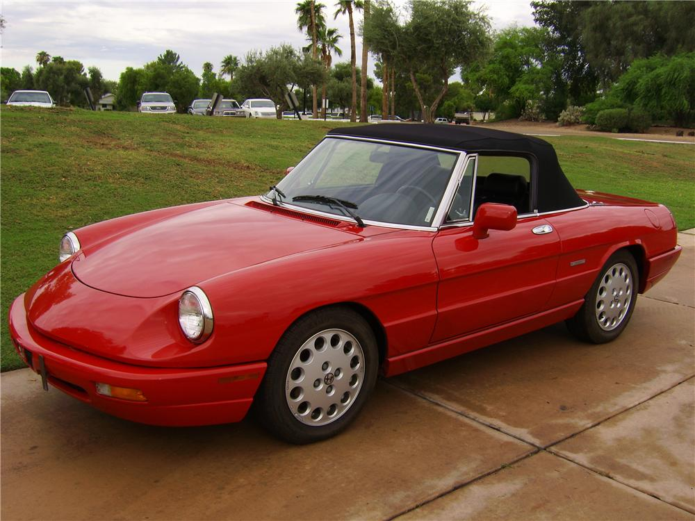 1993 alfa romeo veloce spider convertible 44445. Black Bedroom Furniture Sets. Home Design Ideas