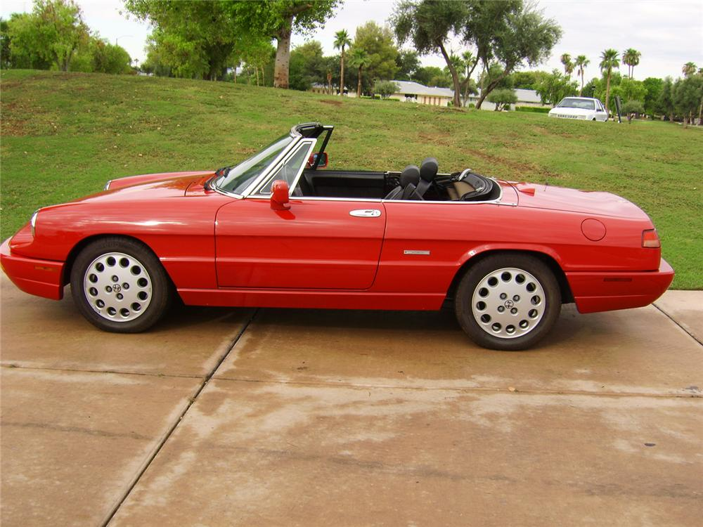 1993 ALFA ROMEO VELOCE SPIDER CONVERTIBLE - Side Profile - 44445