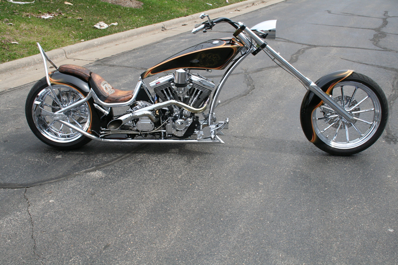 2005 CUSTOM RIGIDFRAME CHOPPER - Side Profile - 44447