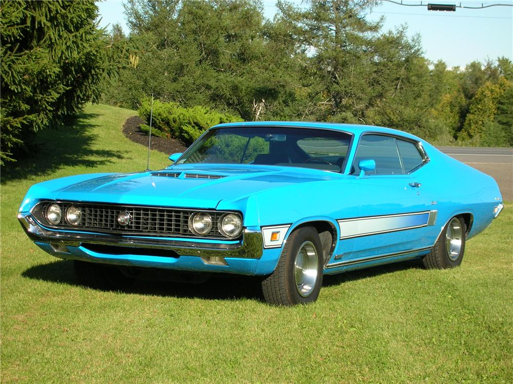 1970 FORD TORINO GT FASTBACK - Front 3/4 - 44449