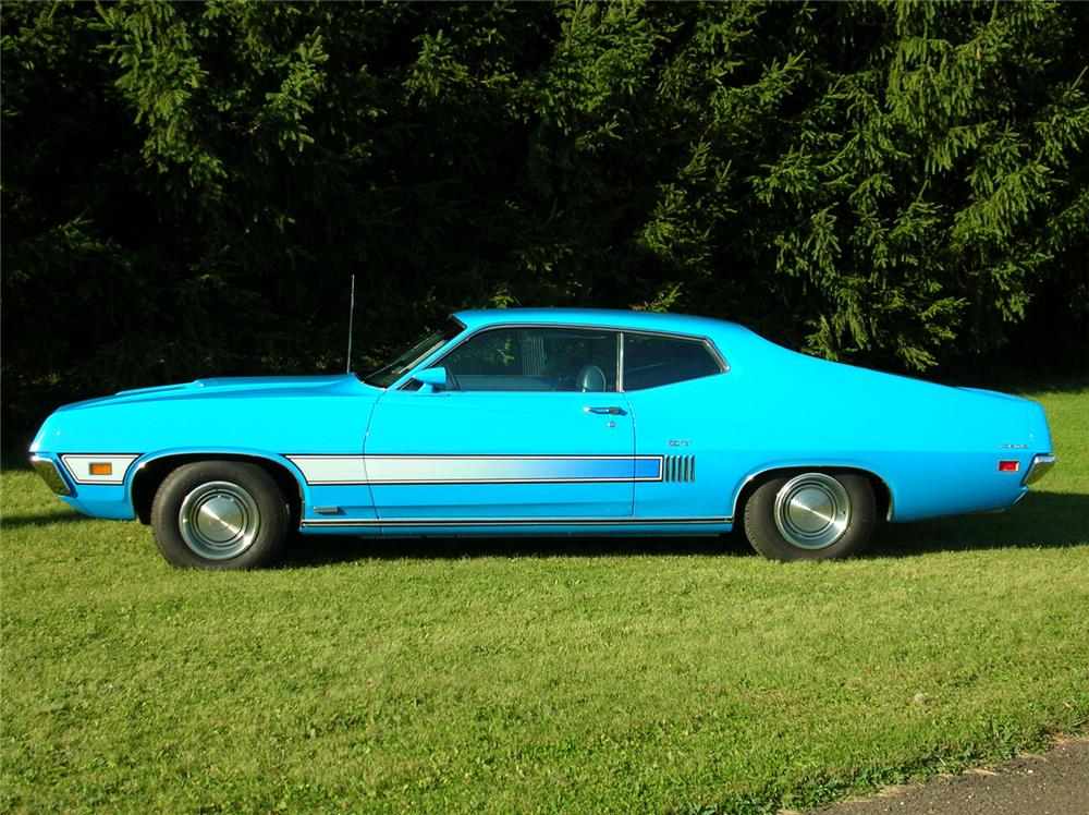 1970 FORD TORINO GT FASTBACK - Side Profile - 44449