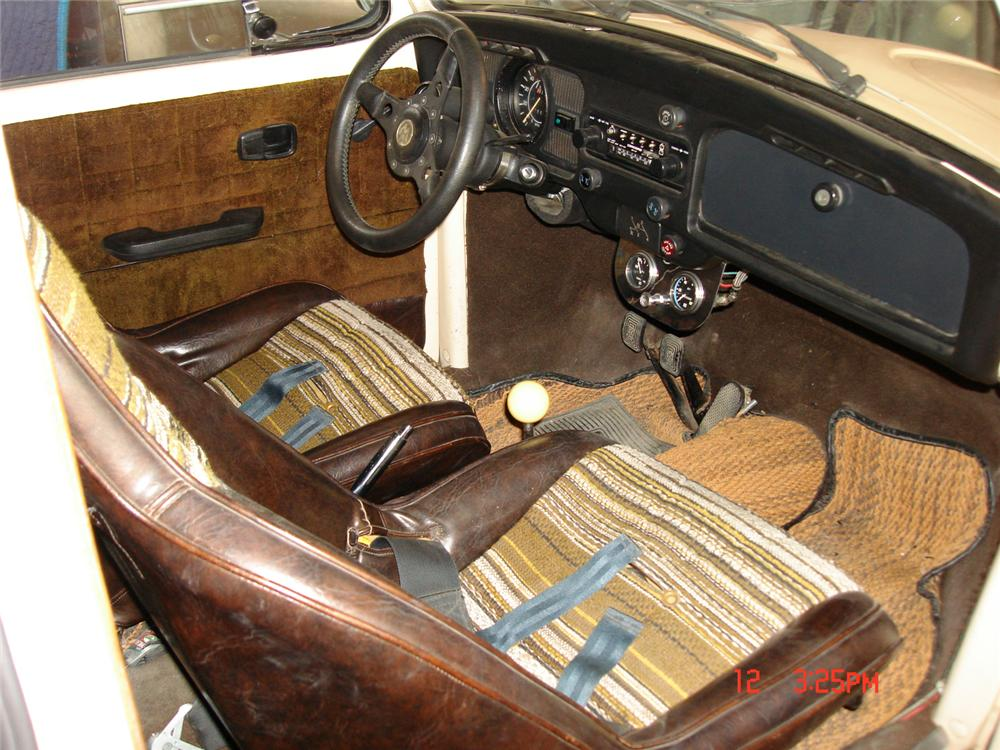 1974 VOLKSWAGEN BAJA BEETLE CUSTOM COUPE - Interior - 44476