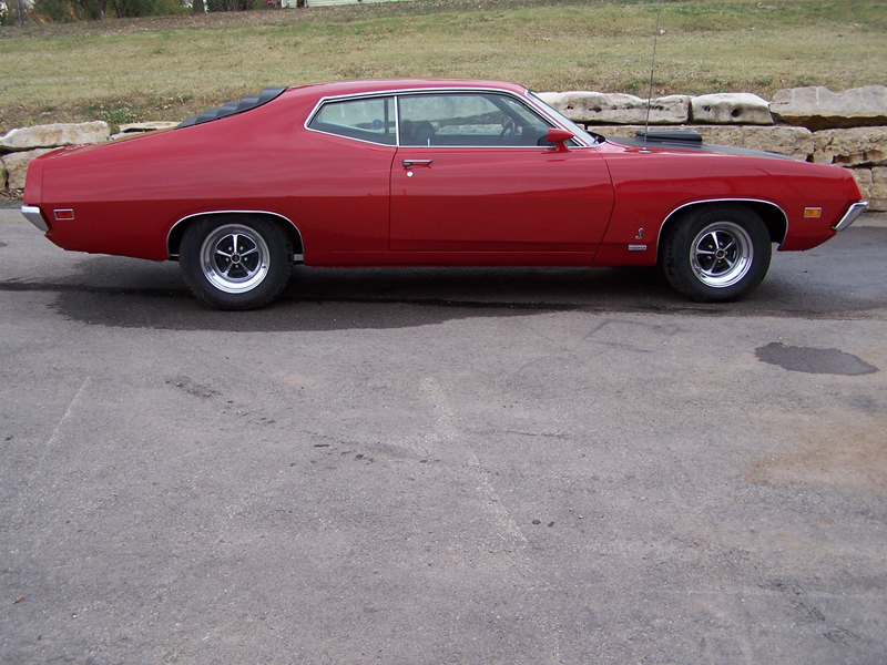 1970 FORD TORINO COBRA FASTBACK - Side Profile - 44479