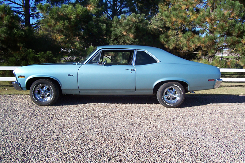 1972 CHEVROLET NOVA CUSTOM 2 DOOR HARDTOP - Side Profile - 44545