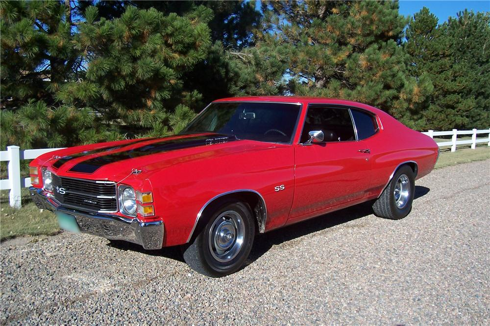 1971 CHEVROLET CHEVELLE SS 2 DOOR HARDTOP RE-CREATION - Front 3/4 - 44547