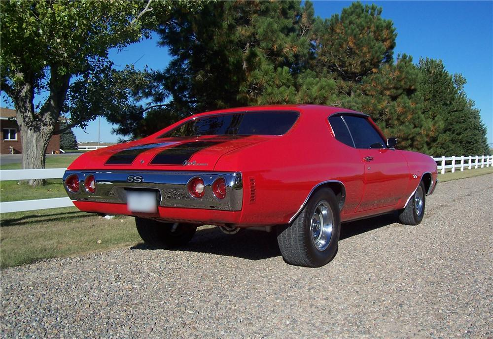 1971 CHEVROLET CHEVELLE SS 2 DOOR HARDTOP RE-CREATION - Rear 3/4 - 44547