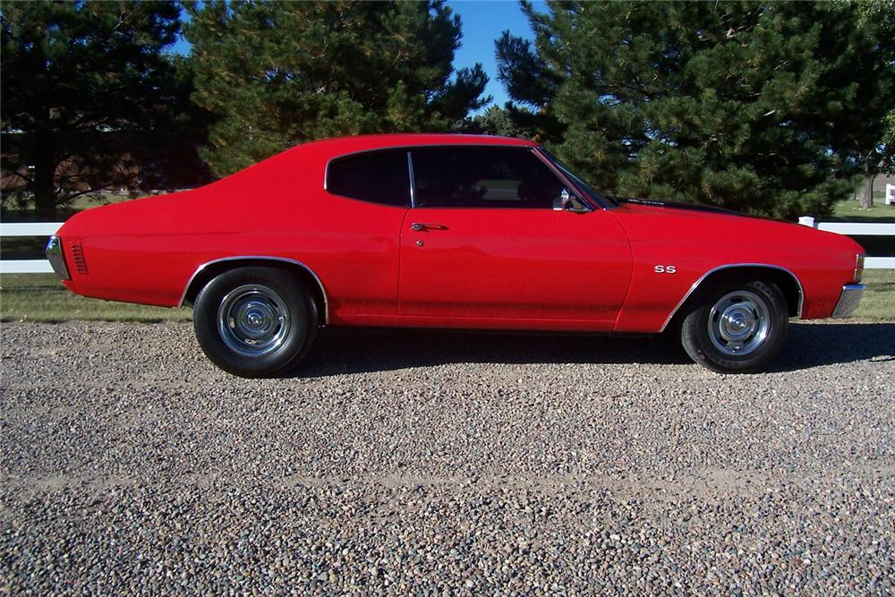 1971 CHEVROLET CHEVELLE SS 2 DOOR HARDTOP RE-CREATION - Side Profile - 44547