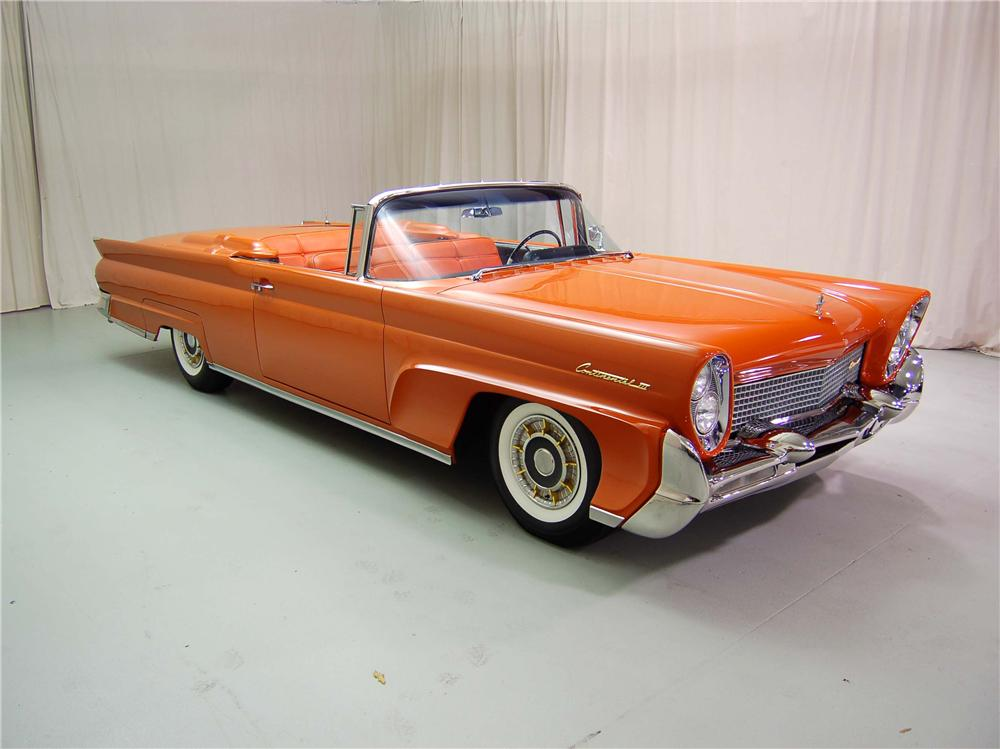 1958 LINCOLN CONTINENTAL CONVERTIBLE - Front 3/4 - 44552