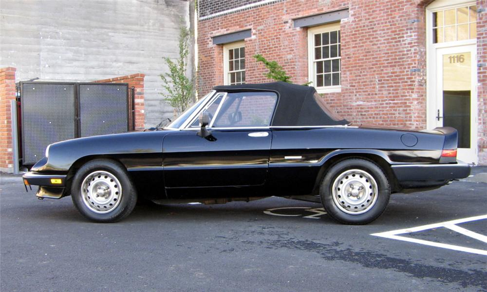 1986 ALFA ROMEO SPIDER GRADUATE CONVERTIBLE - Side Profile - 44561