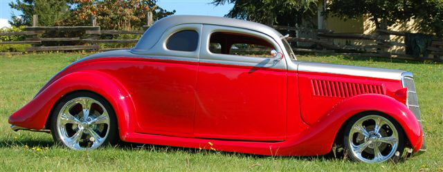 1935 FORD CUSTOM 2 DOOR COUPE - Side Profile - 44566