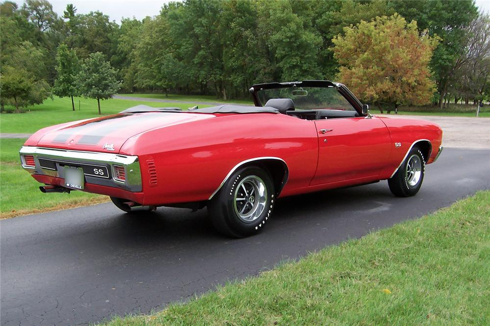 1970 CHEVROLET CHEVELLE SS CONVERTIBLE - Rear 3/4 - 44568