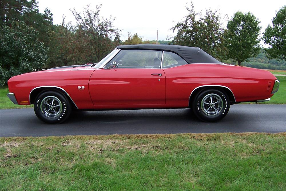 1970 CHEVROLET CHEVELLE SS CONVERTIBLE - Side Profile - 44568