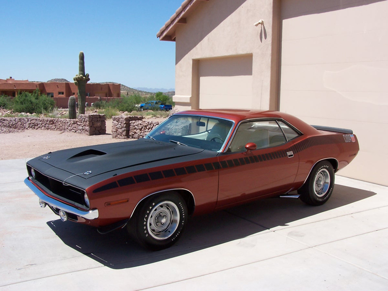 1970 PLYMOUTH CUDA AAR COUPE - Front 3/4 - 44570