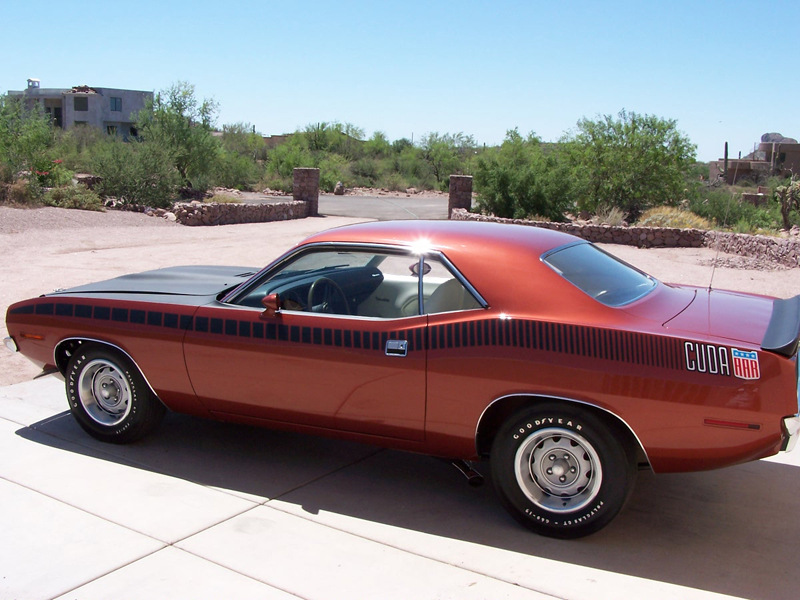 1970 PLYMOUTH CUDA AAR COUPE - Side Profile - 44570