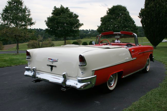 1955 CHEVROLET BEL AIR CONVERTIBLE - Rear 3/4 - 44590