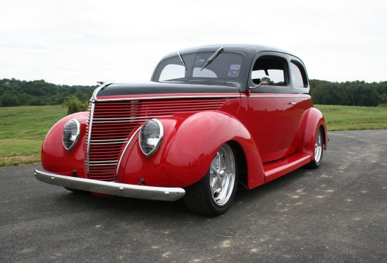 1938 FORD HUMPBACK STREET ROD - Front 3/4 - 44599