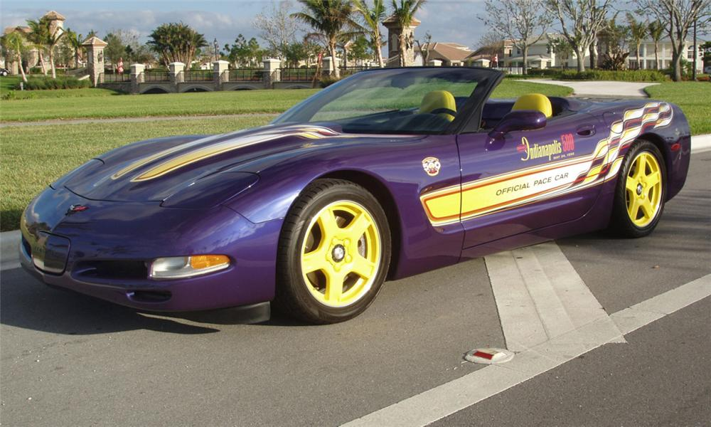 1998 CHEVROLET CORVETTE INDY PACE CAR CONVERTIBLE - Front 3/4 - 44603