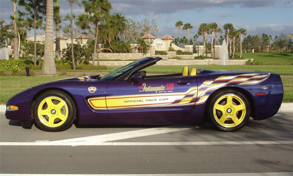 1998 CHEVROLET CORVETTE INDY PACE CAR CONVERTIBLE - Side Profile - 44603
