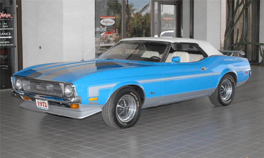 1972 FORD MUSTANG CONVERTIBLE - Front 3/4 - 44604