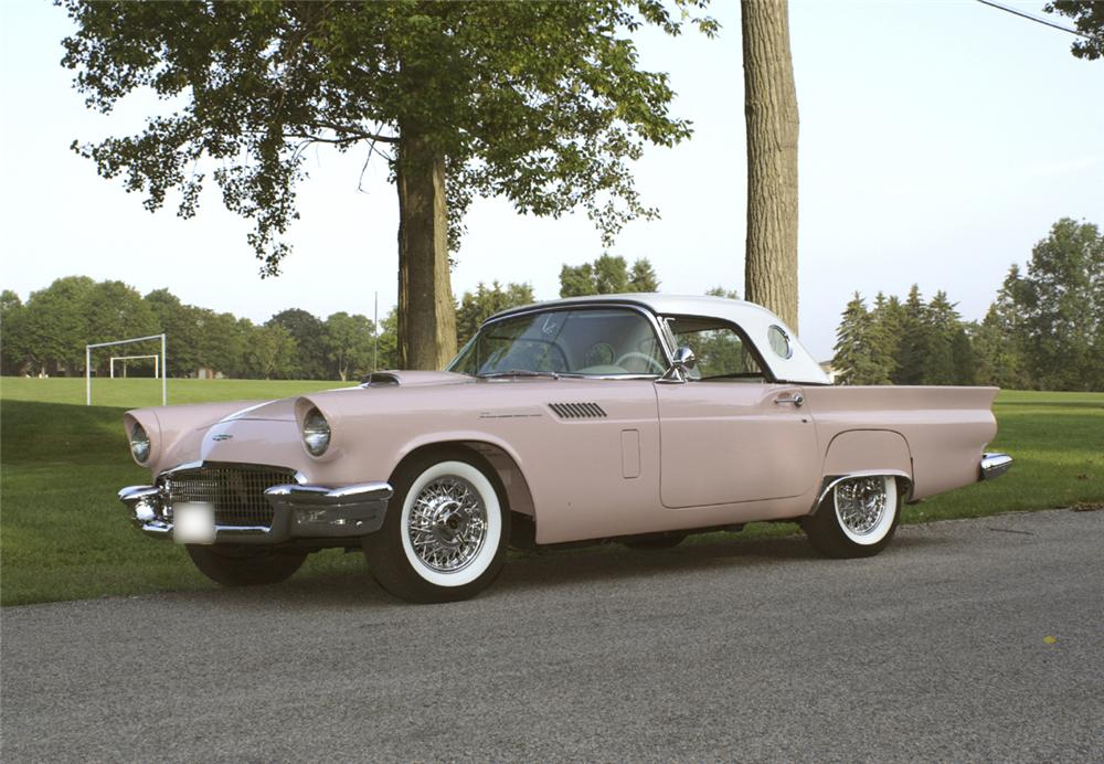 1957 FORD THUNDERBIRD CONVERTIBLE - Front 3/4 - 44658
