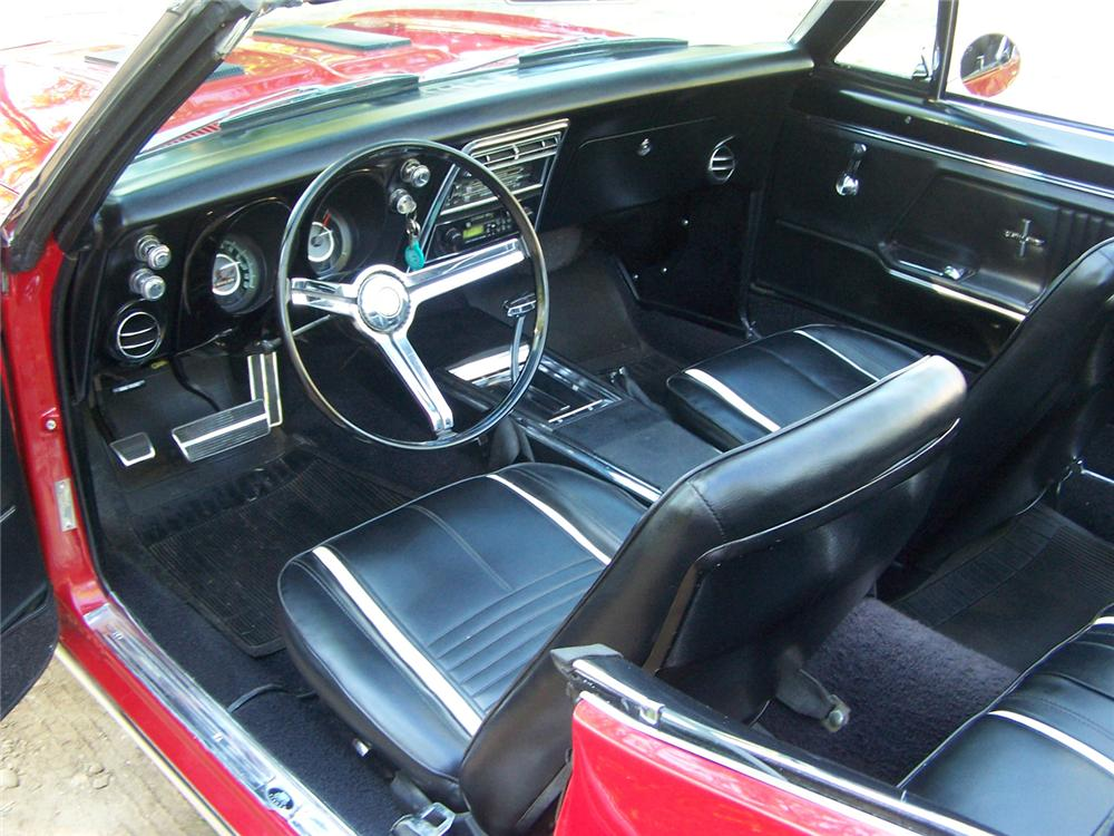 1967 CHEVROLET CAMARO RS CONVERTIBLE - Interior - 44672