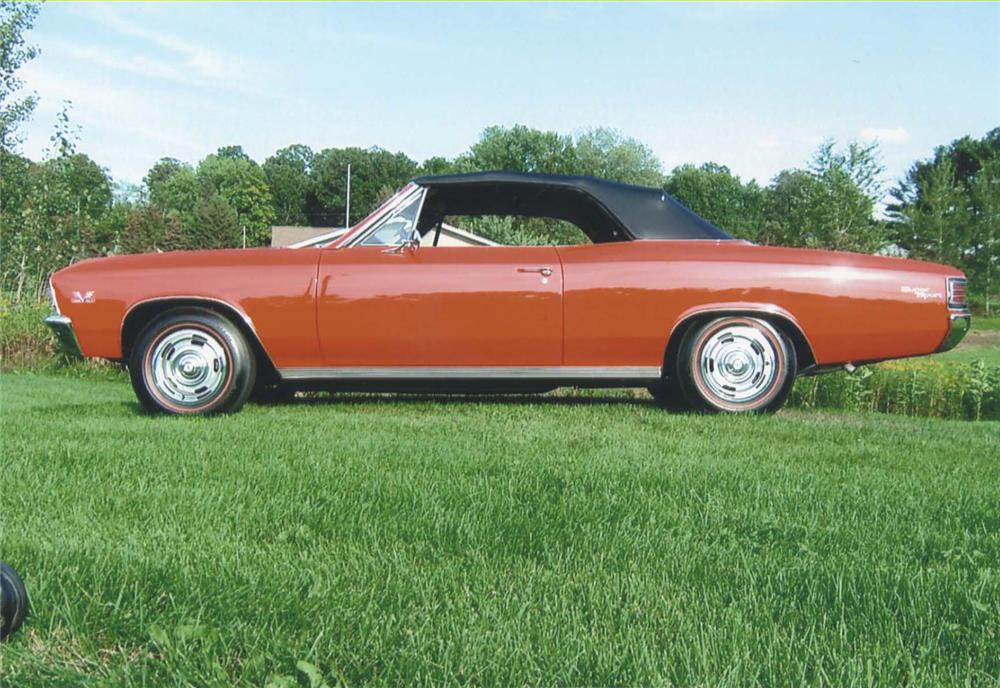 1967 CHEVROLET CHEVELLE SS 396 CONVERTIBLE - Side Profile - 44681