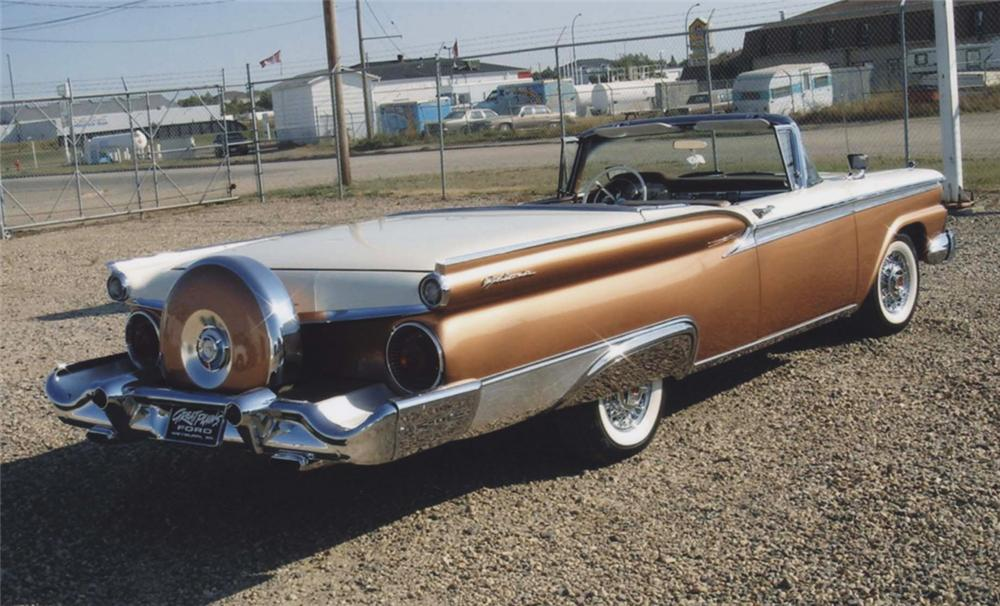1959 FORD SKYLINER RETRACTABLE - Rear 3/4 - 44684