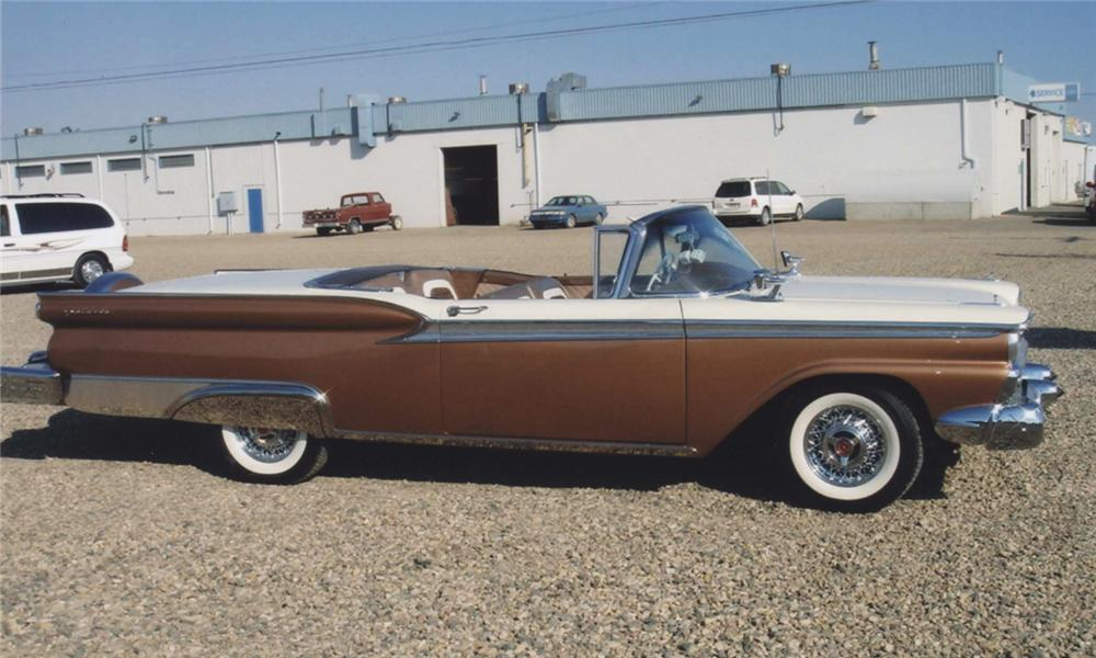 1959 FORD SKYLINER RETRACTABLE - Side Profile - 44684
