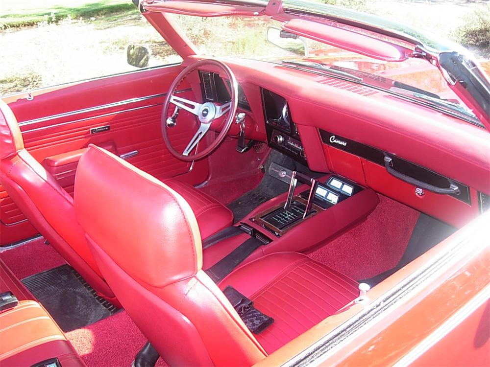 1969 CHEVROLET CAMARO RS/SS CONVERTIBLE - Interior - 44693