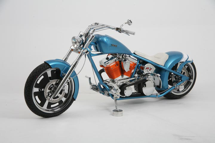 2007 OCC HEMI CHARGER CUSTOM CHOPPER - Front 3/4 - 44738