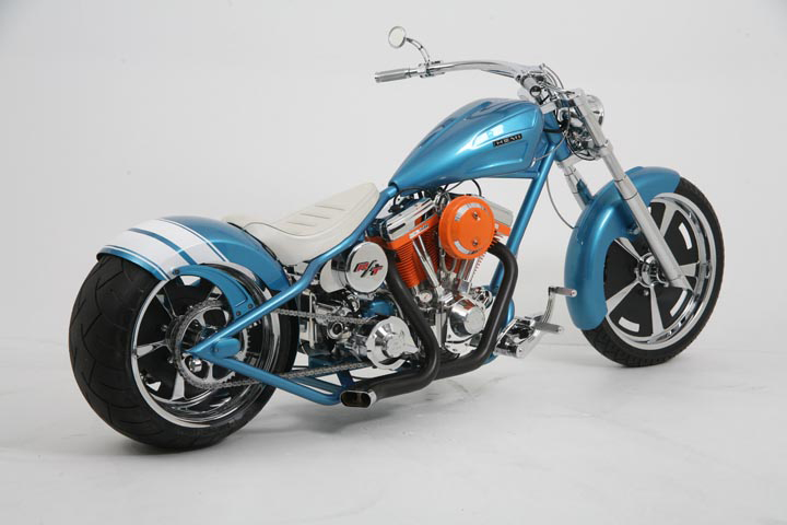2007 OCC HEMI CHARGER CUSTOM CHOPPER - Rear 3/4 - 44738