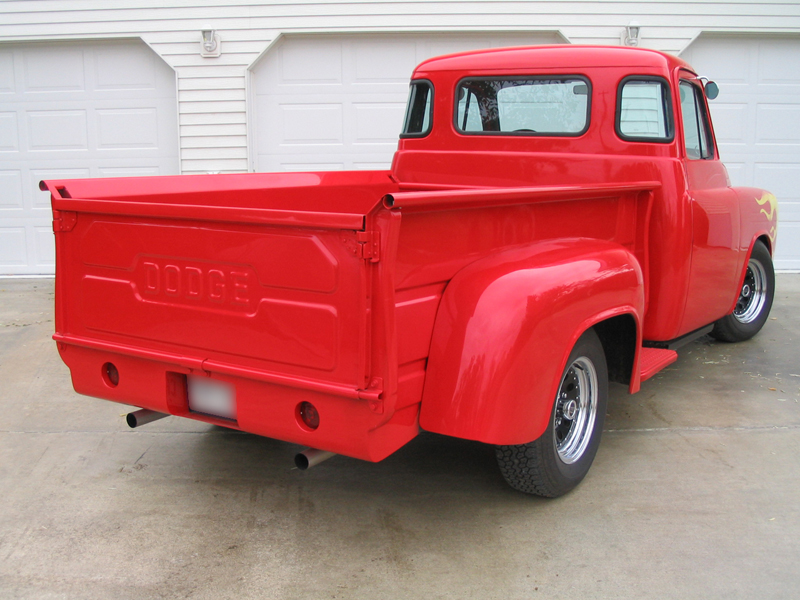 1954 DODGE CUSTOM STEP SIDE PICKUP - Rear 3/4 - 44749