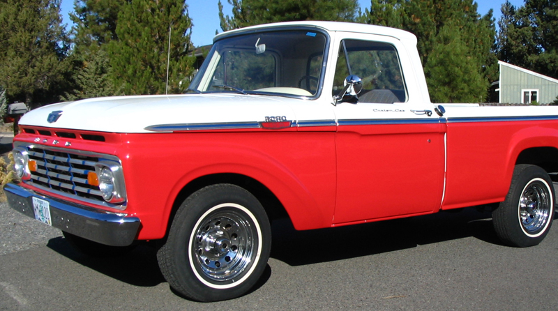 1963 FORD F-100 PICKUP - Side Profile - 44763