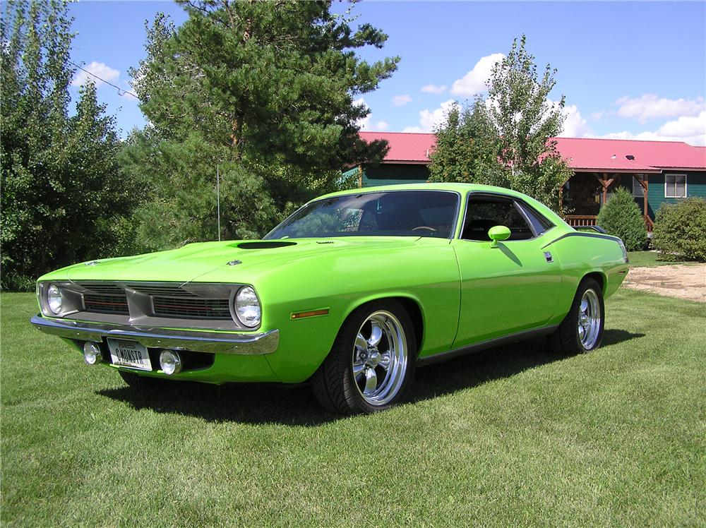 1970 PLYMOUTH CUDA COUPE - Front 3/4 - 44769